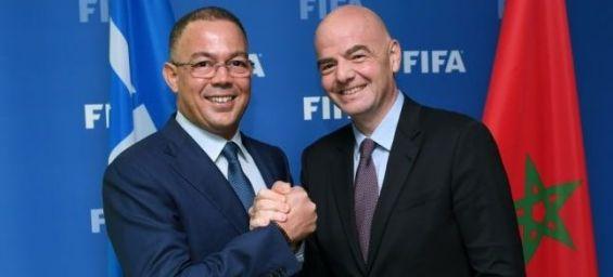 Le Maroc peut organiser la coupe du monde selon le président de la FIFA.