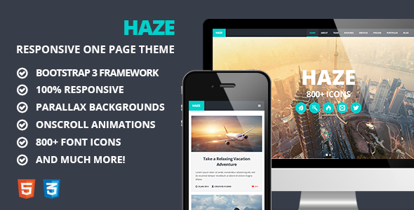 One Page Responsive Parallax Template