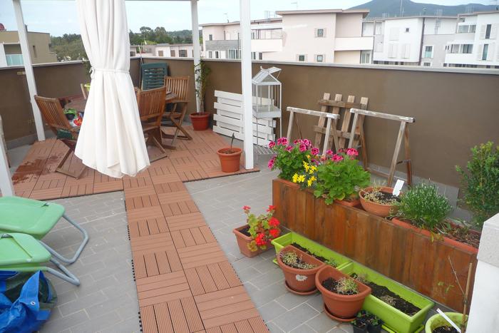 La mia craft room terrazza da arredare for Arredare la terrazza