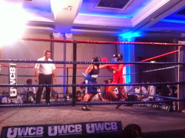 Ladies Ultra White Collar Boxing - Brighton - Tess Agnew Pocket Rocket