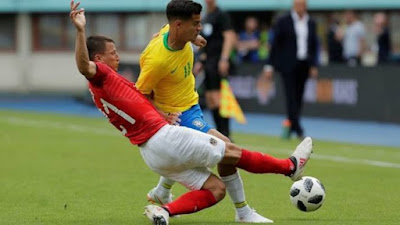 Brasil bate Áustria por 3 a 0, em jogo amistoso