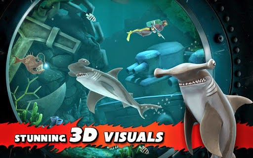 is an amazing game that lets yous explore the body of body of water equally a shark in addition to swallow your enemies its similar Hungry Shark Evolution 2.9.2 APK