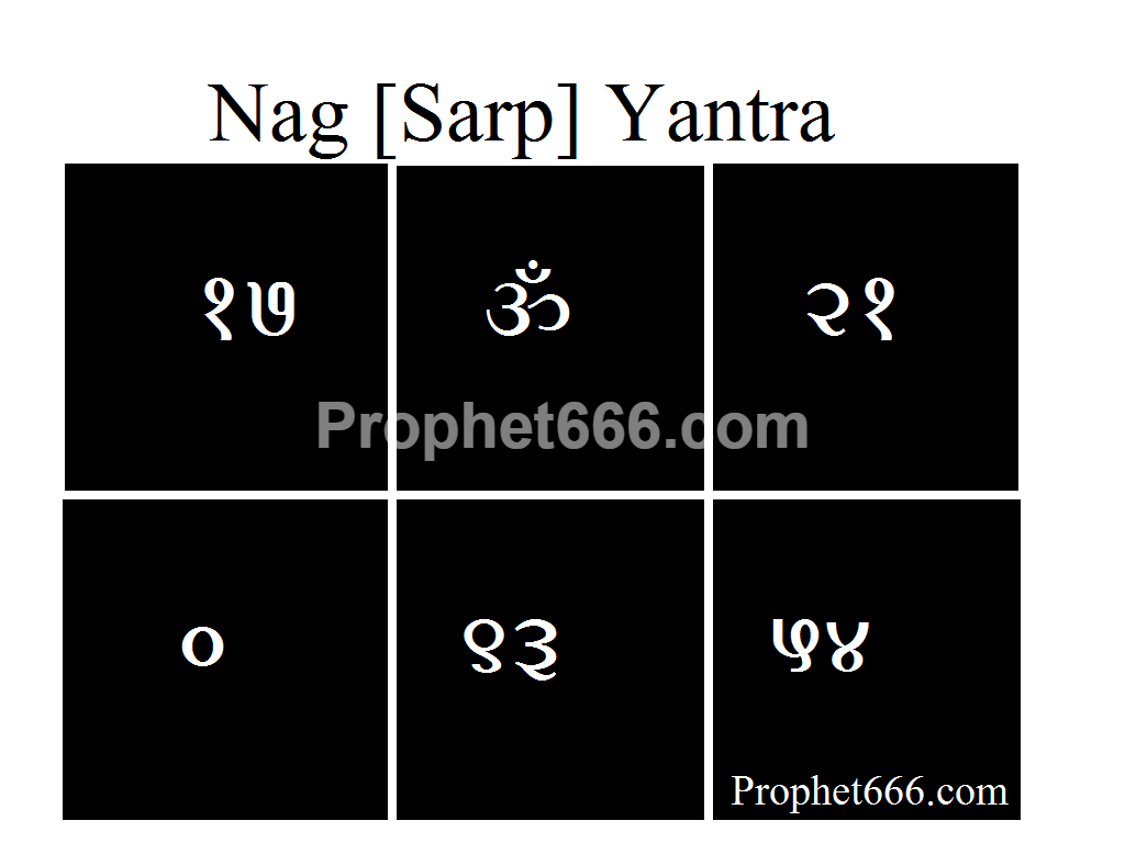 Nag [Sarp] Yantra, which is a Hindu Talisman for Protection from Snakes