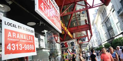 272 locales de la peatonal Florida están desocupados. Es la cifra más alta de la historia. Otro triste récord del desastre económico al que Cambiemos llevó a la Argentina