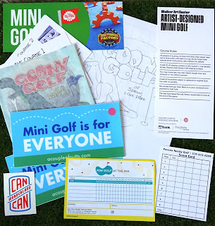 Many thanks to Tom and Robin at A Couple of Putts for sending over this great minigolf stuff