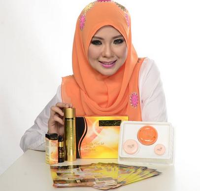 model Nour Ain Skincare