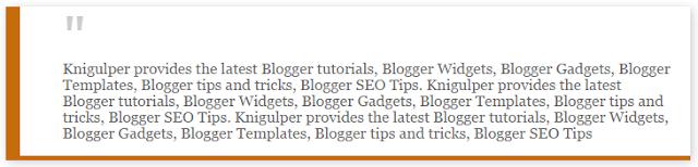 Blogger Blockquote widget style 4