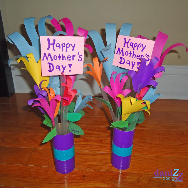 Bouquet In Hand Mother's Day Crafts
