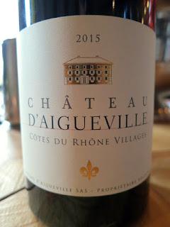 Chateau d'Aigueville Côtes du Rhône-Villages 2015 (88 pts)