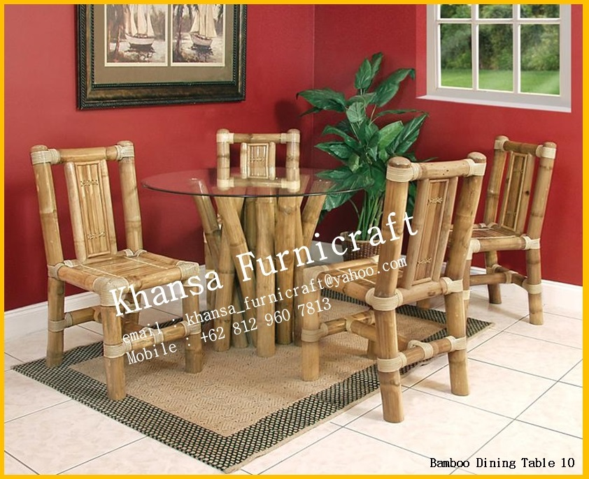 indonesian bamboo bamboo dining room bamboo dining room set marceladick com