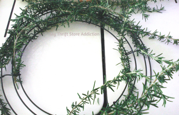 Fresh rosemary wreath tutorial