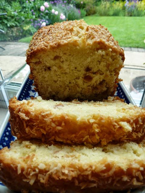 Coconut and Cherry Cake Recipe