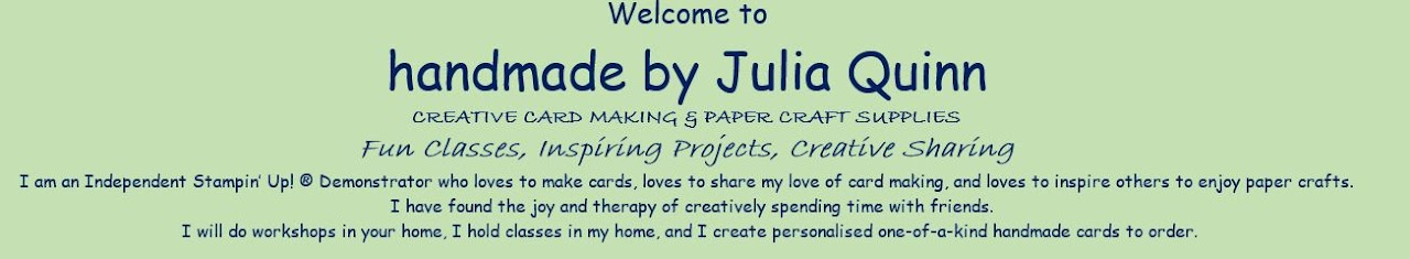 handmade by Julia Quinn - cardmaking and supplies