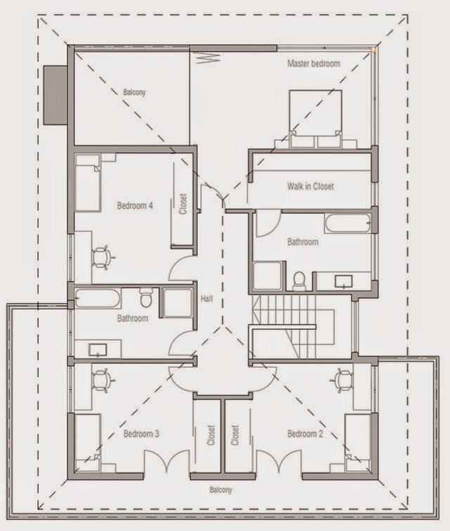 Planos de casa de 4 dormitorios planos de casas gratis y for Planos de casas de dos dormitorios