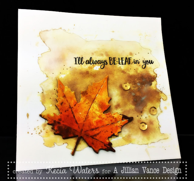 AJVD, Kecia Waters, Distress Inks, fall, leaf