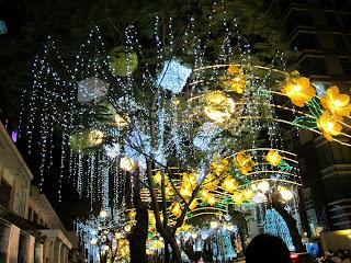Adornos navideños en Vietnam