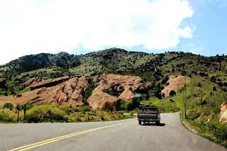 Driving to Red Rocks