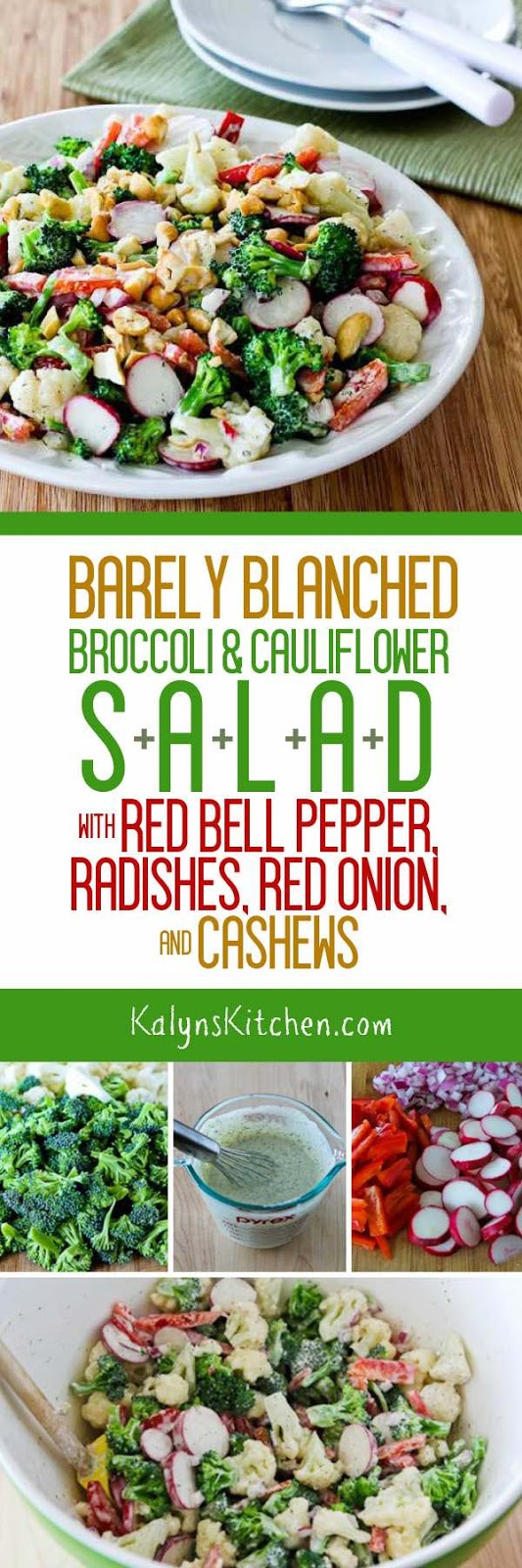 Barely Blanched Broccoli and Cauliflower Salad with Red ...