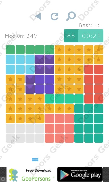 Cheats, Walkthrough for Blocks and Shapes Medium Level 349