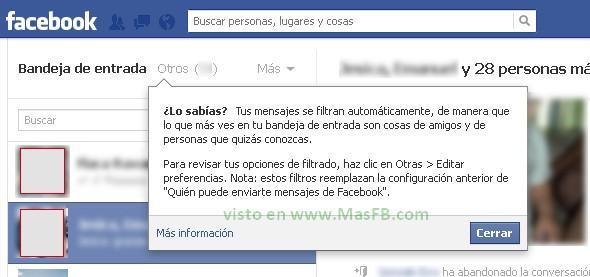Carpeta Otros en Facebook - MasFB