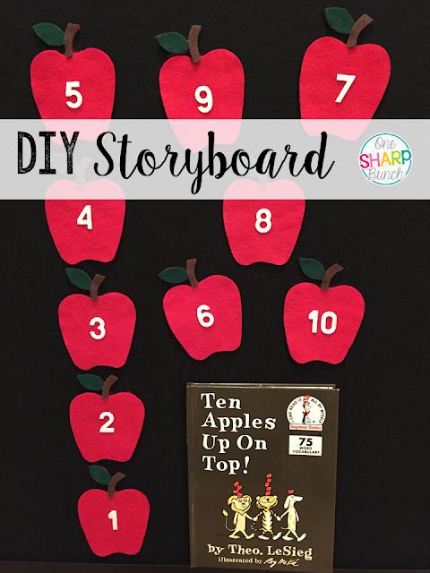 Step-by-step DIY felt board and felt apples storyboard!