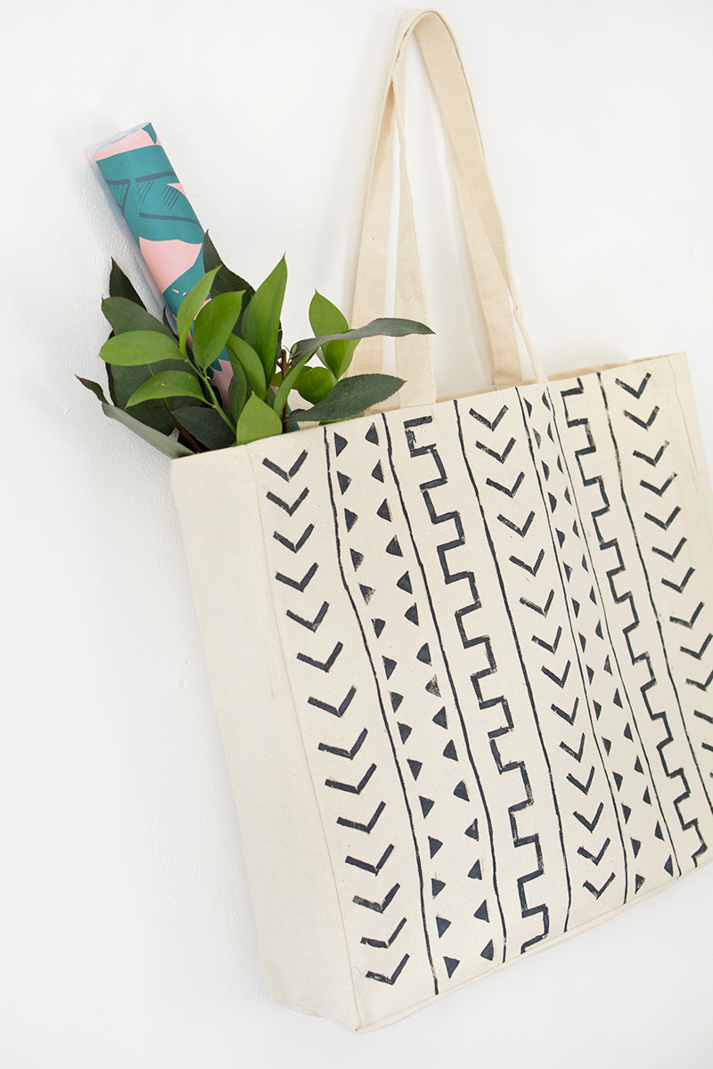 how to make mudcloth tote design