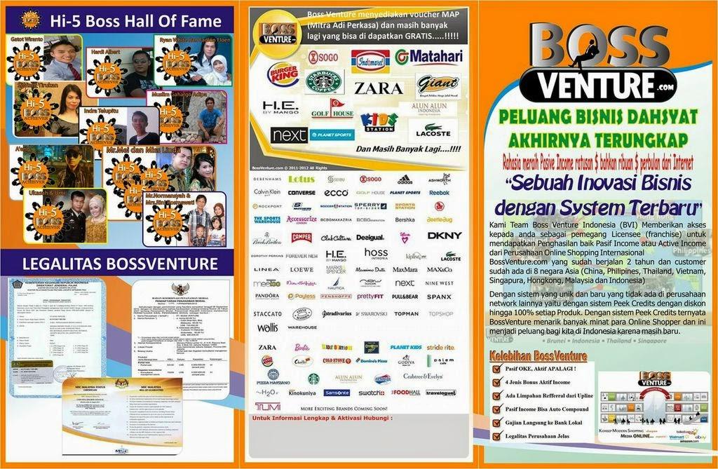 Peluang Usaha | Bisnis Online BossVenture: Brosur Peluang ...