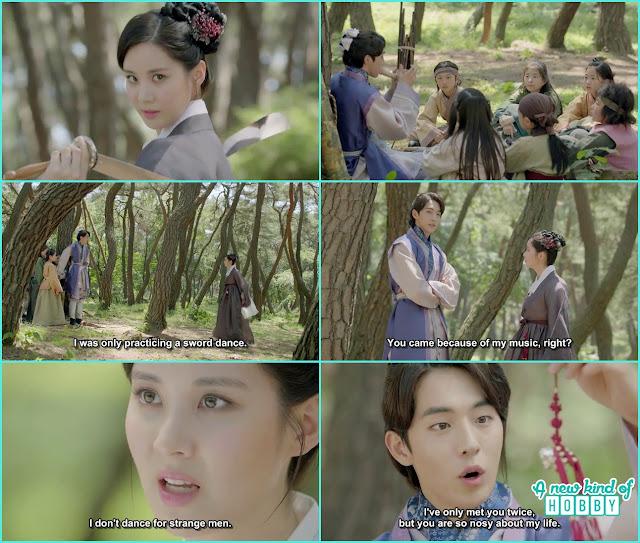 Woo hee sward dance on baek ah music in jungle - Moon Lover Scarlet Heart Ryeo - Episode 9 - Review