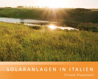 Solar Photovoltaik Memorandum Italien R1 Private Placement
