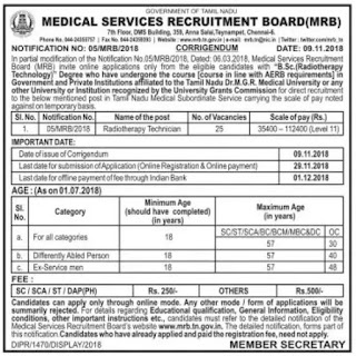 mrb-radiotherapy-technician-modified-corrigendum-re-advertisement-notification-november-2018