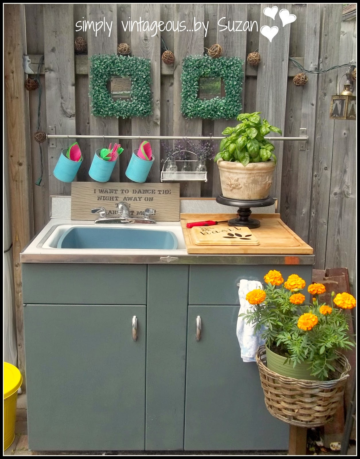 simply vintageous...by Suzan: DIY Outdoor Kitchen on Patio Kitchen Diy  id=33695