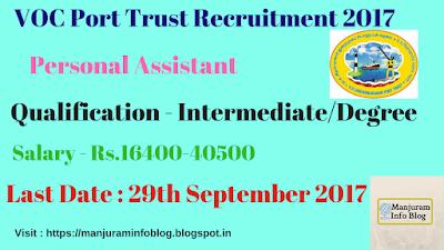 VOC Port Trust Recruitment 2017
