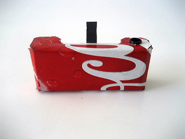 Coca Cola pinhole camera