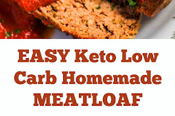 EASY Keto Low Carb Homemade Meatloaf Recipe #easyketo #ketomeatloaf #meatloaf #lowcarb #homemaderecipe #ketodinner #maindish #easydinner #whole30