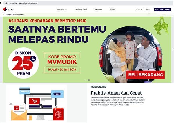 homepage MSIG Online