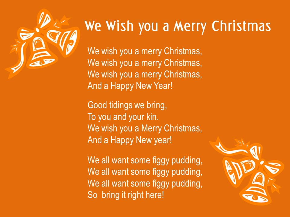 we wish you a merry christmas infodesk