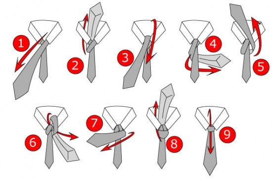Cách thắt cà vạt công sở
