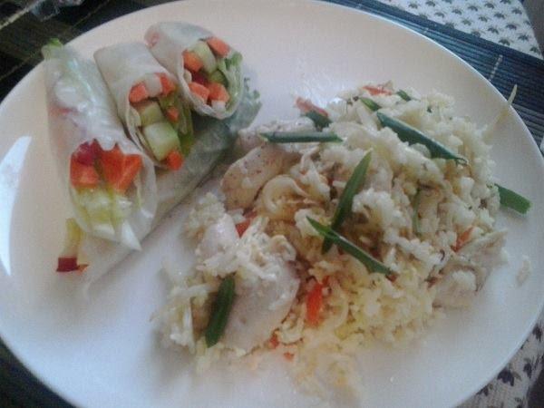 Оризови рулца със зеленчуци