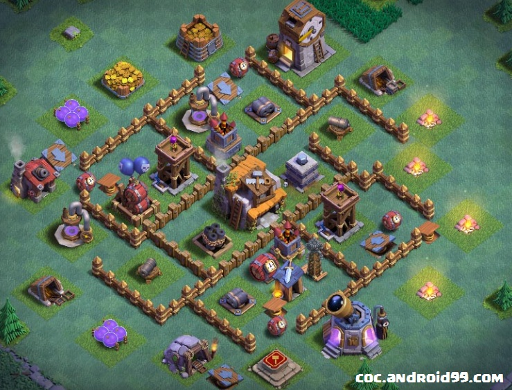 Gambar Base Coc Mode Malam Th 5 1