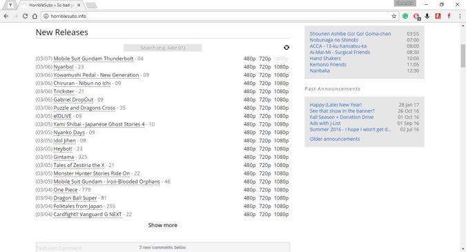 best anime torrent sites
