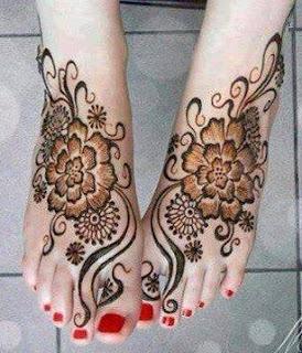 mehndi design for legs