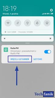 xiaomi odtwarzacz radia więcej ustawień