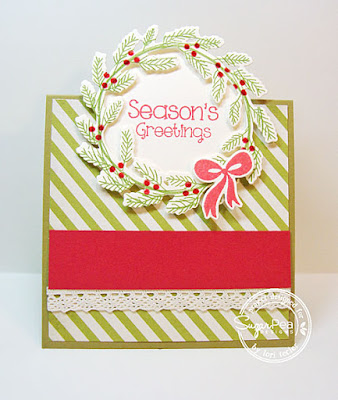 Season's Greetings tent topper card-designed by Lori Tecler/Inking Aloud-stamps and dies from SugarPea Designs