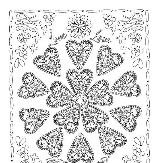 February Free Coloring Book Page
