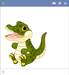 Crocodile Facebook Sticker