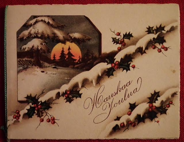 Vanha joulukortti, Vintage, vanha kortti