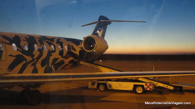 Avião da Pluna no Aeroporto de Montevidéu