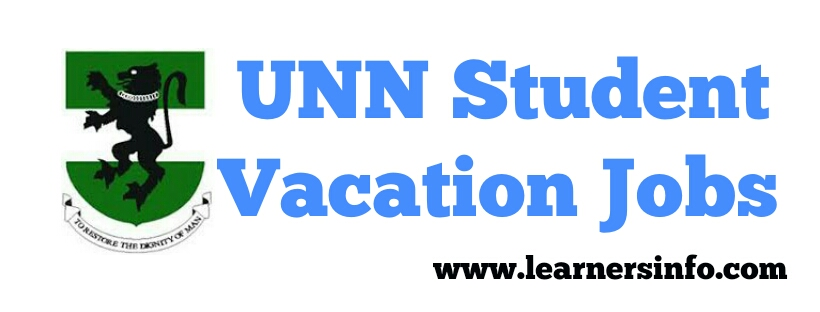 APPLY FOR UNN STUDENTS VACATION JOBS