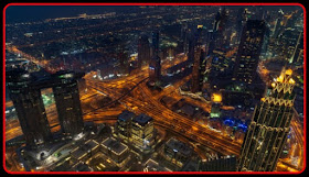 AERIAL VIEW OF HIGH GROUING CITY,GIS,NIGHT VIEW,ARCHITECTURE E-BRIDGE ,GIS