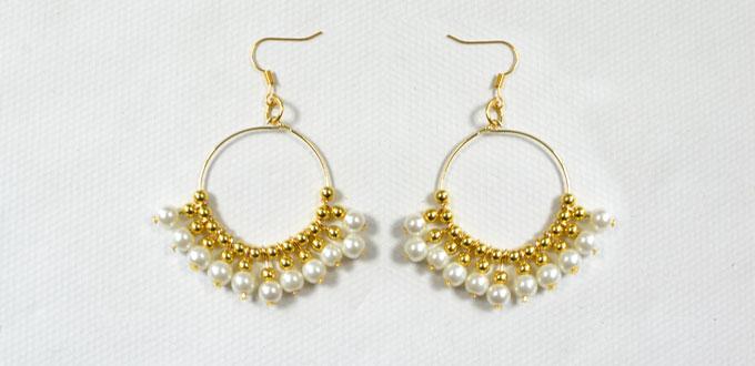 Beader Garden: Elegant Gold Beaded Earrings Making